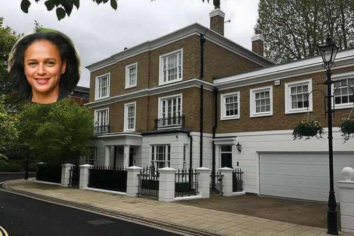 Jornal inglês revela que Isabel dos Santos é proprietária de uma mansão de 15 milhões de dólares em Londres